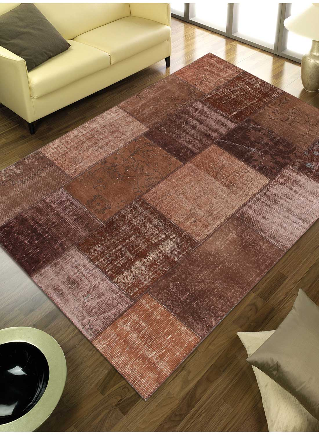 tapis pour grand salon vintage patchwork 2 tapis naturel par unamourdetapis ebay. Black Bedroom Furniture Sets. Home Design Ideas