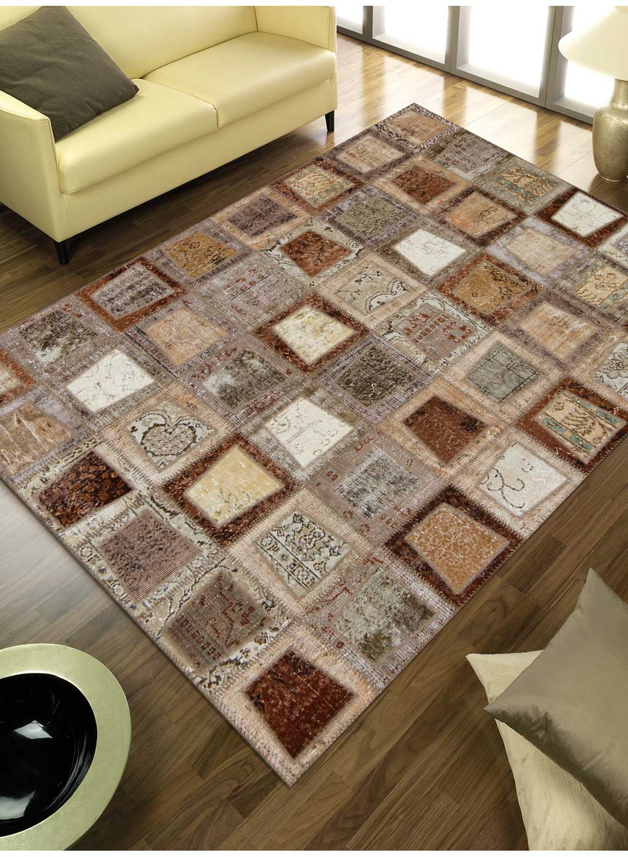 Tapis design pour grand salon nidus patchwork m tapis for Tapis decoratif pour salon
