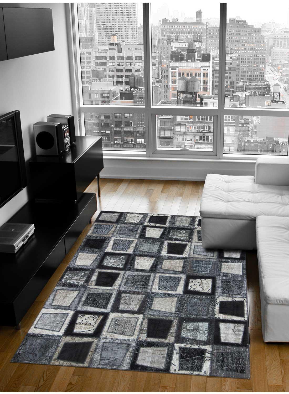 Tapis design pour grand salon nidus patchwork m tapis for Grand salon design