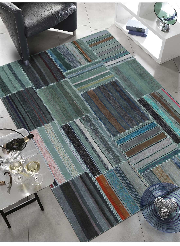 Tapis moderne pour tr s grand salon retro patchwork 1 - Tres grand tapis de salon ...
