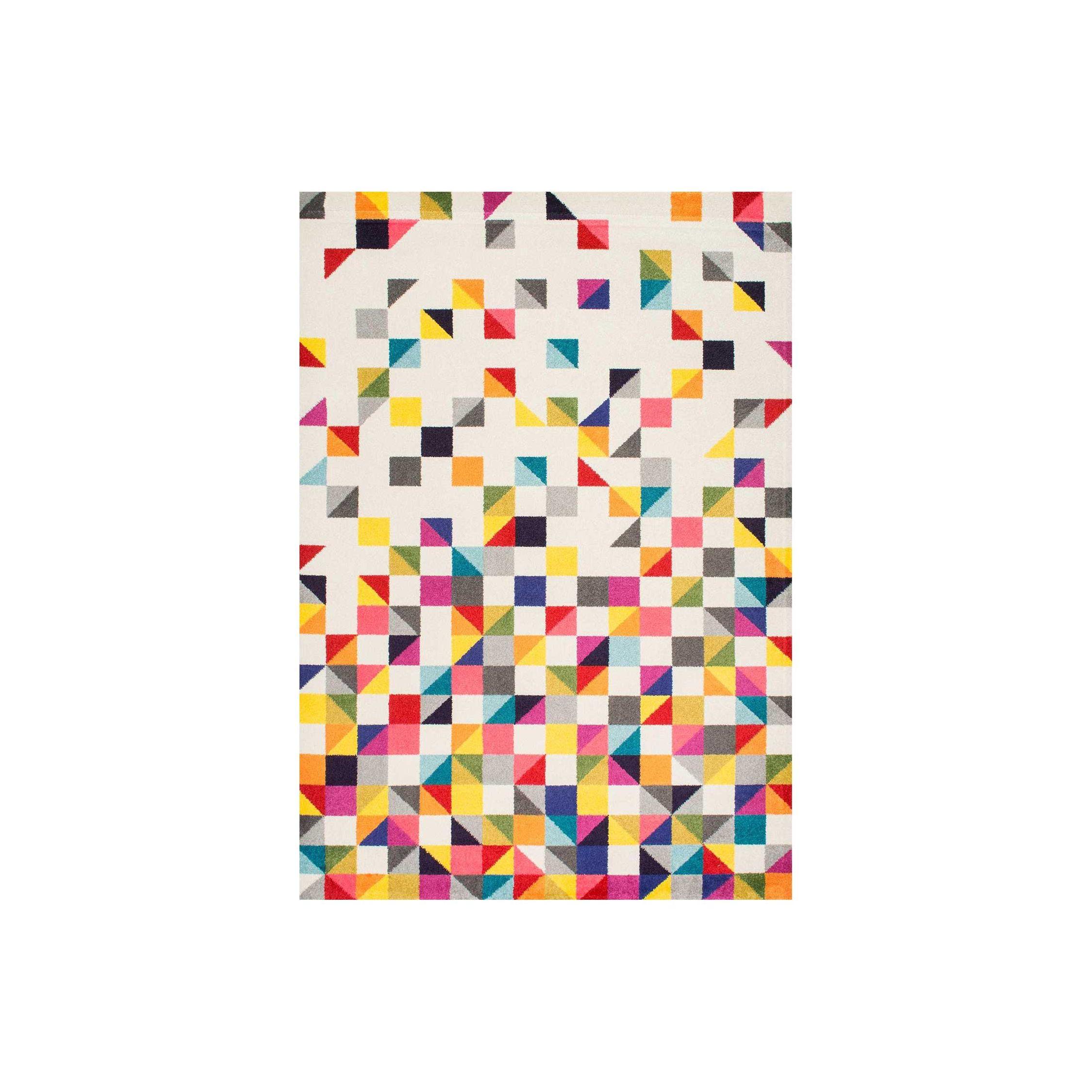 DETRU Tapis Moderne Design Petit Tapis Entree Multicolore Rouge Bleu Gris Noir Violet Rose 40x60 UN AMOUR DE TAPIS