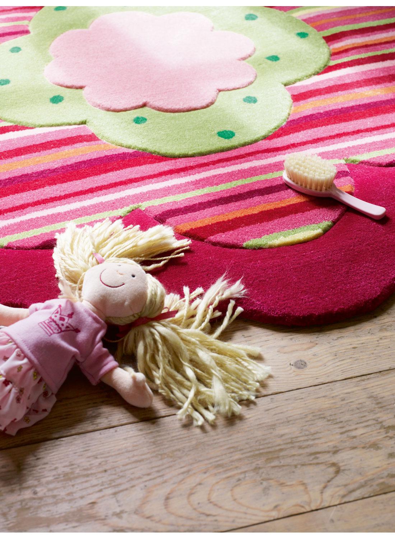 tapis enfant forme originale flower shape tapis enfants par esprit ebay. Black Bedroom Furniture Sets. Home Design Ideas