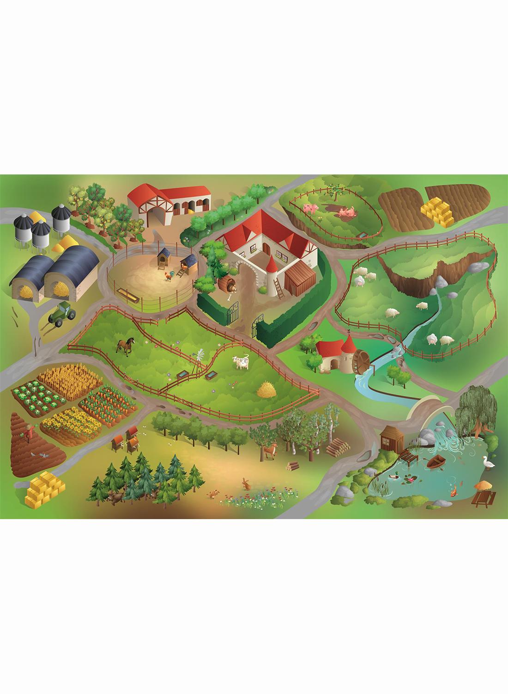 tapis enfant jeu circuit ferme tapis enfants par house of kids ebay. Black Bedroom Furniture Sets. Home Design Ideas