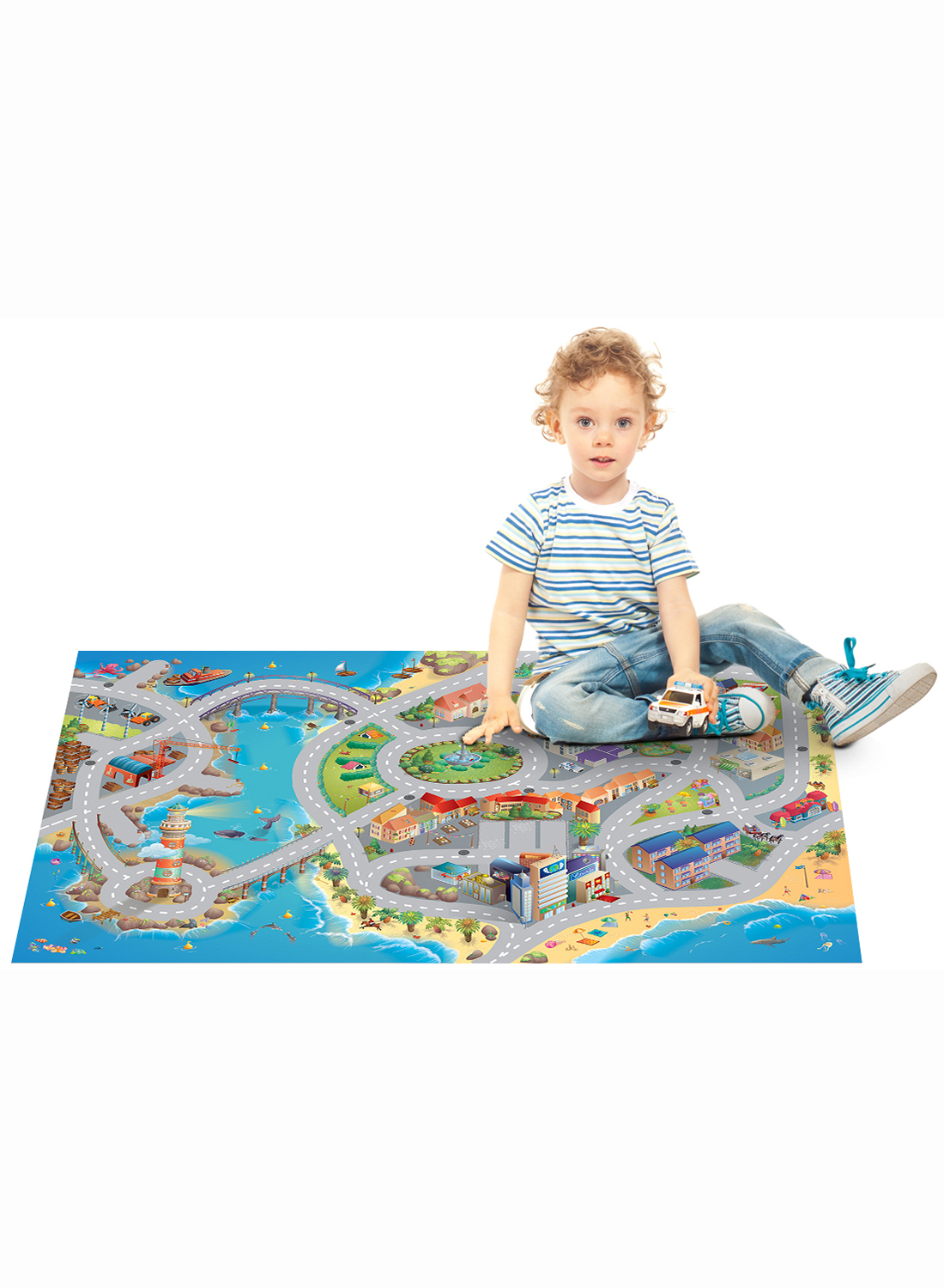 tapis enfant jeu circuit mer tapis enfants par house of kids ebay. Black Bedroom Furniture Sets. Home Design Ideas