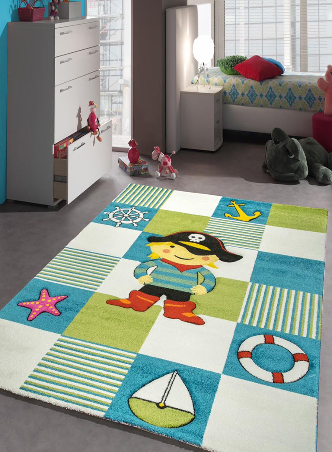 tapis le grand pirate tapis moderne par les tapis ebay. Black Bedroom Furniture Sets. Home Design Ideas