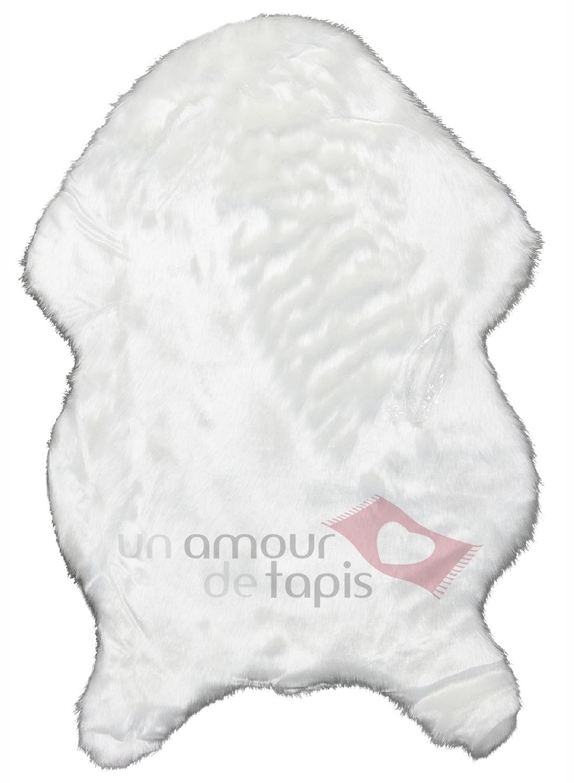 Tapis imitation peau de mouton teint dyllo en polyester - Tapis imitation peau de mouton ...