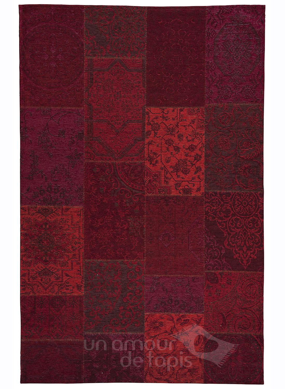 Tapis Kilim Patchwork Ethnic Antika 1 Rouge 120x170 Par Dezenco Tapi