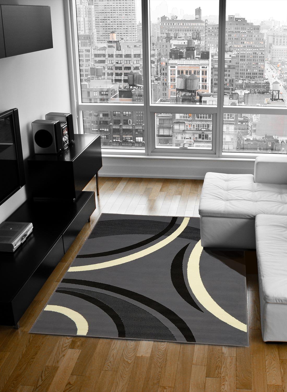 tapis moderne pour salon platino tapis moderne par dezenco. Black Bedroom Furniture Sets. Home Design Ideas
